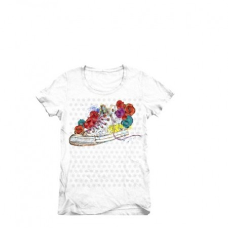 Converse Flower CHKS Collage Crew