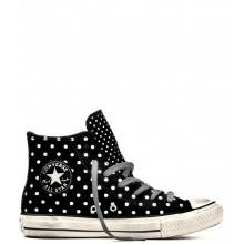 Chuck Taylor All Star Hi Foil Polka Dots Black