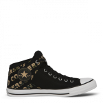 Chuck Taylor All Star High Street Canvas Wordmark High Top Black