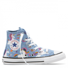 Chuck Taylor All Star Unicorns High Top -  Világos kék magasszárú
