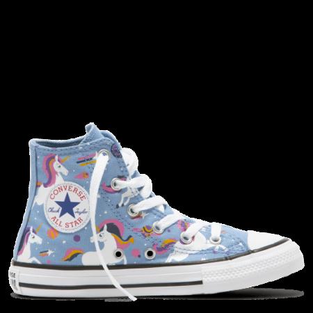 Chuck Taylor All Star Unicorns High Top -  Világos kék magasszárú