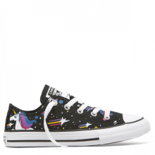 Chuck Taylor All Star Unicorns Low Top - Fekete alacsony szárú