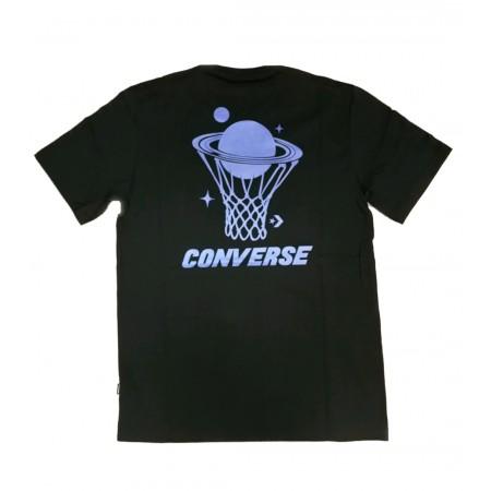Converse Planet Hoop Tee - Fekete Férfi Póló