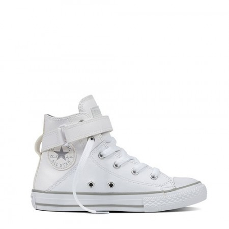 Converse Junior Chuck Taylor All Star Hi Leather White